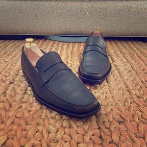 Tod's Grey Penny Loafers